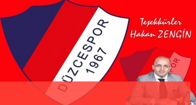 Düzcespor'dan Hakan Zengin'e teşekkür