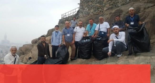 Nur Dağı'nda temizlik seferberliği