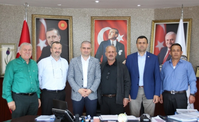 Oda ve kooperatif başkanlarından Başkan Yemenici'ye ziyaret