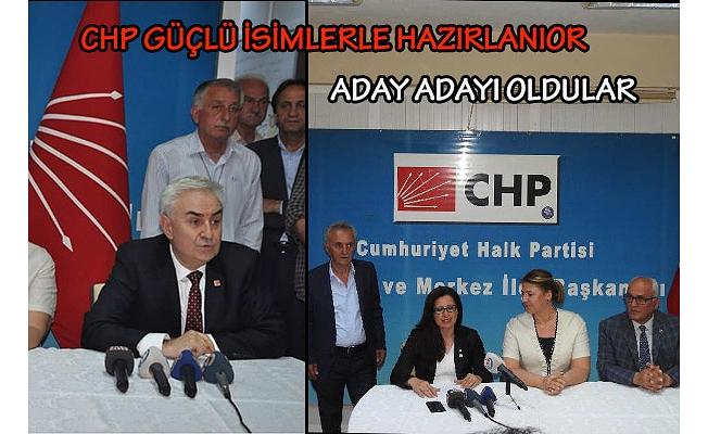 CHP'DE ADAY ADAYLARI TANITILMAYA BAŞLANDI