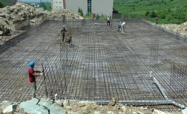 DÜ Cami inşaatı temeli törenle atıldı
