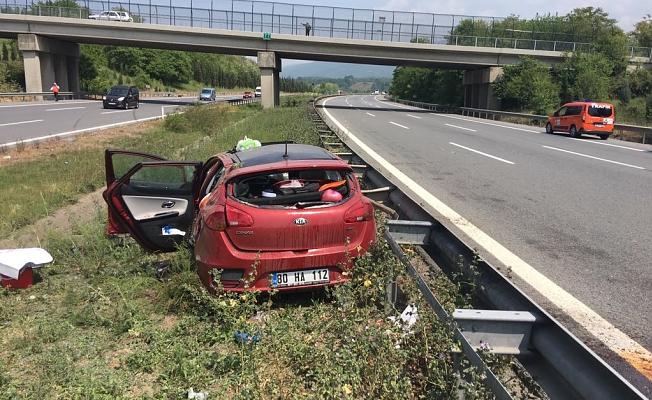Yaşlı çift trafik kazasında yaralandı