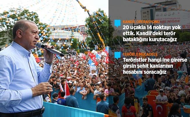 Cumhurbaşkanı Erdoğan: Kandil'e operasyonlarımızı başlattık