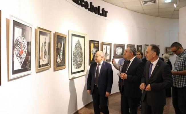 Hayrullah Altay'ın özgün hat sergisi açıldı