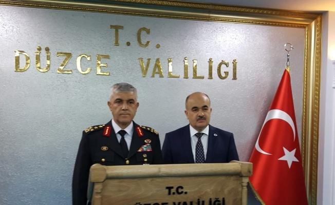Jandarma Genel Komutanı Orgeneral Çetin, Vali Dağlı'yı ziyaret etti