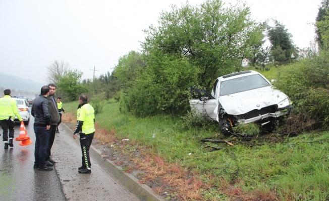 Dolu yağışı sürücülere zor anlar yaşattı