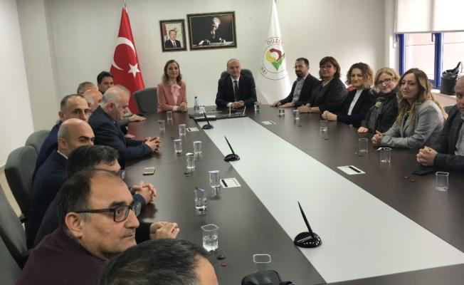 Rektör Çakar ve Senato ÜyeleriBaşkanı Özlü'yü ziyaret etti