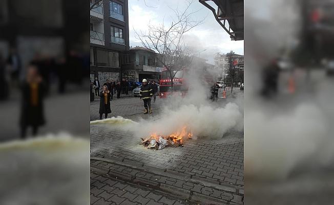 Akçakoca'da İtfaiyeden yangın tatbikatı